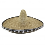 купить Шляпа Сомбреро солома 50 см с кисточками (бежевая) цена, отзывы