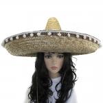 купить Шляпа Сомбреро солома 60 см с кисточками цена, отзывы