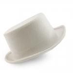 купить Шляпа Цилиндр велюровый (белый) цена, отзывы
