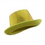 купить Шляпа Цилиндр с пайетками (желтая) цена, отзывы