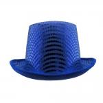 купить Шляпа Цилиндр с пайетками (синяя) цена, отзывы
