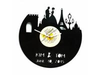 купить Виниловые часы именные Париж цена, отзывы