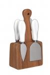 купить Набор для сыра с деревянной подставкой и 4 приборами  цена, отзывы