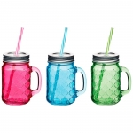 купить Чашка стеклянная с крышкой и трубочкой Рельефная  цена, отзывы