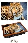 купить Поднос с подушкой Леопард цена, отзывы
