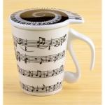 купить Чашка music с крышкой, 4 вида цена, отзывы