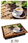 купить Поднос с подушкой Чашка с горячим кофе цена, отзывы