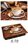 купить Поднос с подушкой Ароматный кофе цена, отзывы