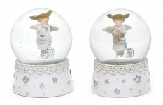 купить Водяной шар ангел с подарком белый цена, отзывы
