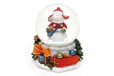 купить Водяной шар Снеговик с подарками цена, отзывы