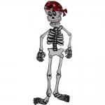 купить Скелет на стену в бандане цена, отзывы