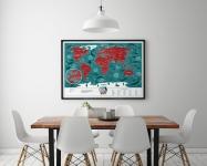 купить Скретч карта мира Travel Maps Marine World цена, отзывы