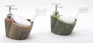купить Дозатор для жидкого мыла с губкой и щеткой цена, отзывы