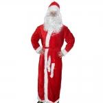 купить Карнавальный костюм Деда Мороза велюр красный цена, отзывы
