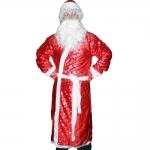 купить Карнавальный костюм Деда Мороза с рисунком красный цена, отзывы