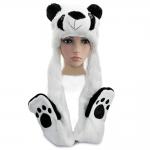 купить Шапка маска с лапками Панда цена, отзывы