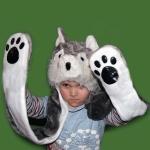 купить Шапка маска с лапками Собака цена, отзывы
