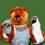 купить Шапка маска с лапками Медведь цена, отзывы