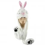 купить Шапка маска с лапками Заяц цена, отзывы