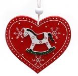 купить Новогодние украшения Сердце с лошадкой цена, отзывы