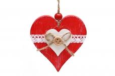 купить Новогодние украшения Сердце 8см цена, отзывы