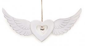 купить Подвесной декор Сердце с крыльями цена, отзывы