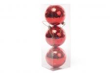 купить Набор елочных шаров красный обычный цена, отзывы