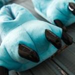 купить Домашние тапочки Лапы Синие цена, отзывы