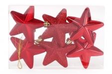 купить Набор елочных украшений Звезды красный цена, отзывы