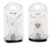 купить Елочная игрушка с подсветкой Ангел 7.5 см цена, отзывы
