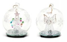 купить Новогоднee украшение с LED-подсветкой Елка, Анегл, 9см цена, отзывы