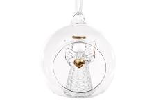 купить Украшение на елку с подсветкой Ангел с сердцем 8см цена, отзывы