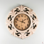 купить Настенные часы с резьбой кремовые цена, отзывы