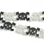 купить Гирлянда 3D Хэллоуин Череп с костями цена, отзывы
