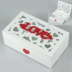 купить Деревянная шкатулка Love  цена, отзывы
