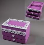 купить Деревянная шкатулка Фиолетовая  цена, отзывы