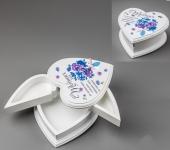 купить Деревянная шкатулка сердечко (трансформер) цена, отзывы