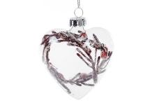 купить Елочное украшение Сердце 8см  цена, отзывы