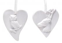 купить Подвесной орнамент Сердце 8см  цена, отзывы