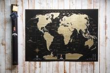 купить Скретч карта My Maps Black edition на Английском в тубусе цена, отзывы