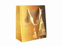 купить Подарочный пакет Золотая ель 21 см цена, отзывы