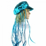 купить Кепка женская с косичками (голубая) цена, отзывы