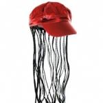 купить Кепка женская с косичками (красная) цена, отзывы
