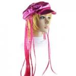 купить Кепка женская с косичками (розовая) цена, отзывы