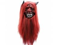 купить Маска латексная Дьявол (Дракула) с волосами цена, отзывы