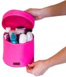 купить Круглый органайзер для косметики (Розовый) цена, отзывы