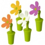 купить Пробка для бутылки силикон Цветок цена, отзывы