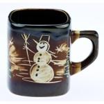 купить Чашка снеговик с елками цена, отзывы