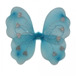 купить Крылья Бабочки с сердечками (голубые) 32х36см цена, отзывы