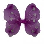купить Крылья Бабочки с сердечками (малиновые) 32х36см цена, отзывы